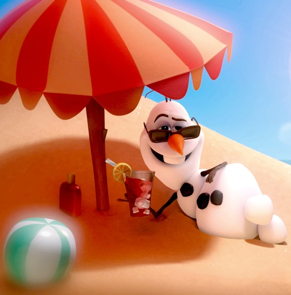 Olaf from Frozen in summer